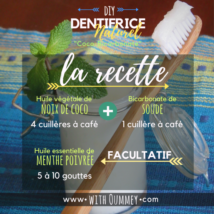[DIY] Dentifrice Naturel Coco-Bicarbonate avec 3 ingrédients, seulement ! | with Oummey | www.withoummey.com